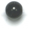 Semi-Precious 8mm Round Reconstructed Black Agate